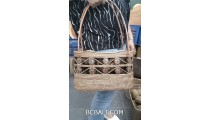 hand woven ata grass straw bags with coco coin handmade indonesia