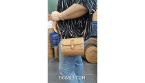 handbag purse hand woven ata grass handmade long handle