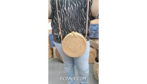 popular hand woven ata straw grass handbag with flower rattan stap