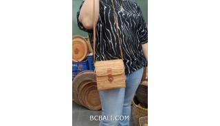 square handbag long handle hand woven ata grass straw bali