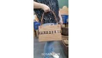 women handbag ata grass hand woven with coco palm ethnic design