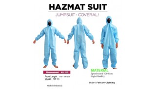 Anti Bactery Suit Protection Hazmat Coverall Disposable Daily Cloth
