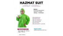 Coverall Anti Bacteria Suit Protection Worker Wear Outdoor Hazmat Premium