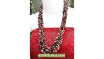 Beaded Fashion Seed Necklace mix Colors