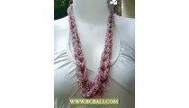 Beaded Seed Necklace multi Colors