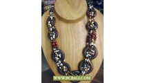 Beaded coloring wrap Wooden Fashion Necklaces