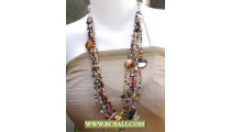 Beading Necklaces Fashion mix Colors with Shells