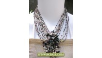 Fashion Beaded mix Colors Necklaces with Stone