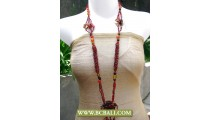 Bcbali Layered Beading Necklace Fashion with Stone Pendant