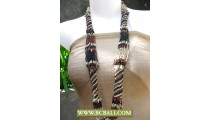 Mixed Beaded Long Necklace Fashion