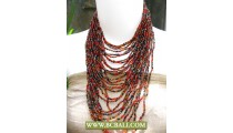 Cute Multi Strand Necklaces Fashion Beaded