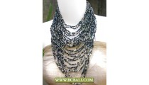 Multi Layer Necklace Squins