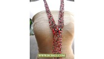 Multi Beaded Layer Necklaces Fashion Long