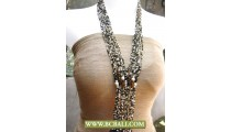 Long Necklace Layer Beading Glass