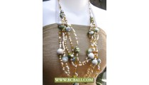 Bcbali 5 Strand Beads and Pearls Fashion Necklaces