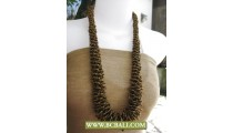 Golden Bead Corn Necklace