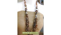 Beads mixed Shells Layered Necklaces Fashion