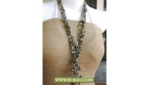Cute Style Beads Wrap Long Necklace Fashion