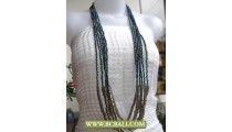 6 Layer Necklace Fashion Paua Beading