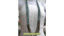 Bcbali Long Braided Necklace Turqouise Fashion Beading