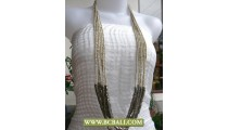 Long Braided Necklace Squins mixed Metal