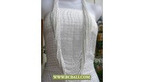 White Squins Layered Necklaces Multi Strand