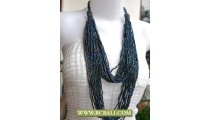 Paua Beads Layer Necklaces Multi Strand
