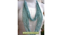 Cute 2 Layer Turqouise Beads Multi Strand Necklaces