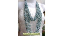 Fancy 2 Layer Squins Necklaces Multi Strand