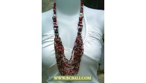 Bcbali Layer Necklaces Multi Strand Beads, Pearls and Shells