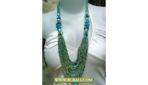 Bcbali Turqouise Necklaces Layered Fashion Beading