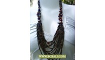 Mix Bead Multi Strand Necklace