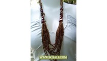 Golden Beaded Layered Necklace