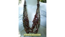 Bali Bead Necklace Layered