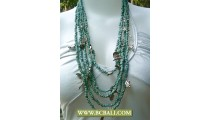 Bcbali Design Layer Necklace Turqouise Beads mix Chain