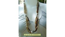 Bali Beads with Chain Necklace Layer
