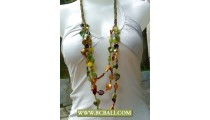 Coloring Shells Nugets Necklace Fashion Beaded