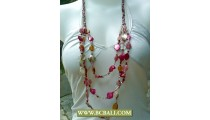 Multi Color Shells Nugets Necklaces Beaded Fashion