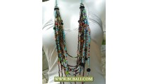 Long Necklace Beading Multi Strand