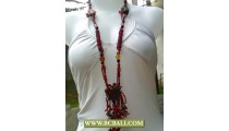 Bcbali Style Long Braided Necklaces Beading
