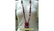 Cute Layered Beading Necklaces with Stone Pendants
