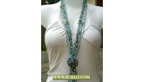 Beads wrap mix Stones long Necklace Fashion combain Flower Rose