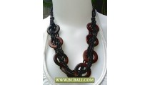 Black Beads wrap Wooden Fashion Necklaces