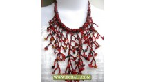 Black and Reds Casandra Necklaces Fashion Beading
