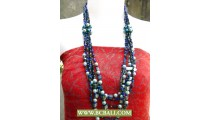 Blue Beads Fashion Necklaces with Pearls and Stone