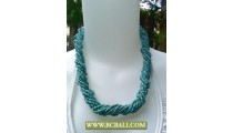Blue Chockers Beads wrap Fashion Necklaces