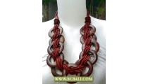 Brown Beads Necklaces by Wooden
