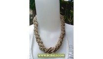 Cream Chockers Squins wrap necklace Fashion
