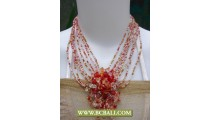 Bcbali Chockers Necklace Beading with Stone Pendant