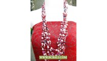 Fashion Necklaces Squins mix Pearls and Shells